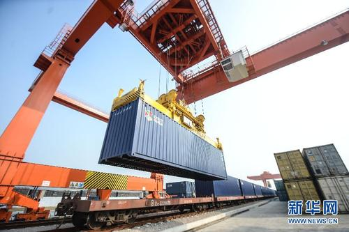 Dollar store items from Yiwu wholesale market shipped to Europe by train