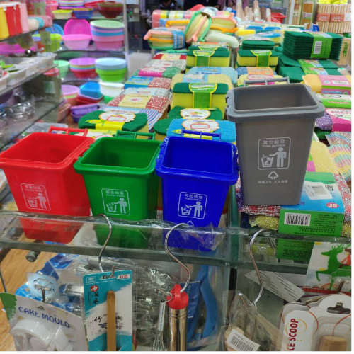 Plastic-ware suitable for dollar stores are wholesaled in Yiwu Futian market, daily consumable section