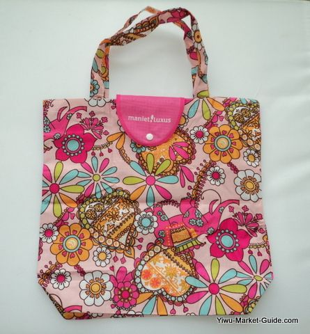 foldable shopping bag with logo printing, unfolded