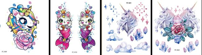 girls-unicorn-tattoo-wholesale-yiwu-china