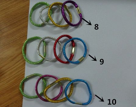 shinny elastic rubber hair bands for shampoo promotion
