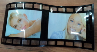 glass curvy  photo frame
