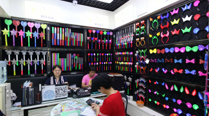A showroom specialized in glow toys in Yiwu market - Toys Section