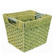 green plants laundry basket
