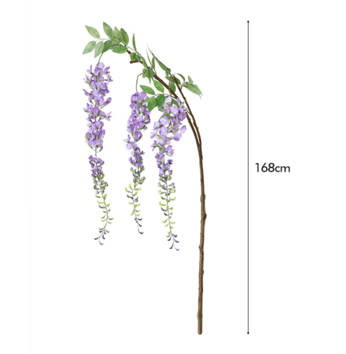 Extra large Wisteria artificial flowers, adult size, wholesale in Yiwu, China. 168 cm