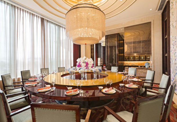 Private Dinning Room in Marriott Hotel Yiwu for Chinese Food