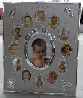 my-first-year photo frame