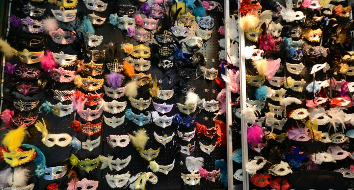 A mask supplier inside Yiwu market.