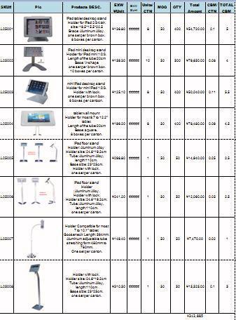 Price List for Ipad Display Stand for indoor quiz / feedback