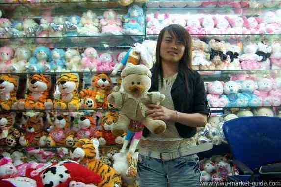 plush toys wholesaler in Yiwu market