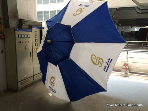 promotional beach umbrella with logo printing