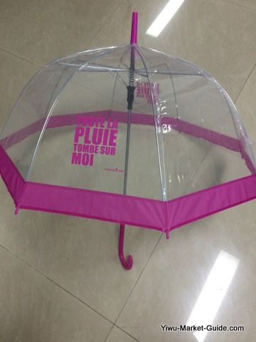 promotional bell umbrella pink
