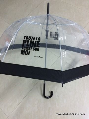 promotional transparent bell umbrella