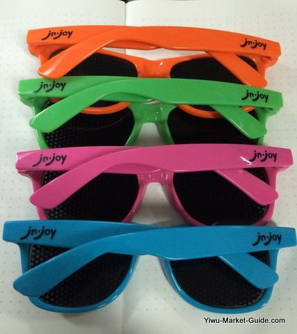 promotional wayfarer sunglasses (back)