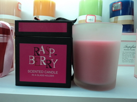 raspberry scented candles