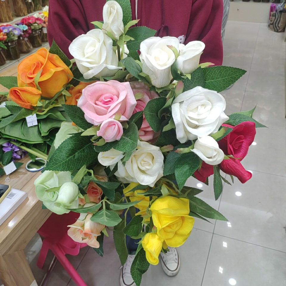 roses real touch (PU), Yiwu China 3