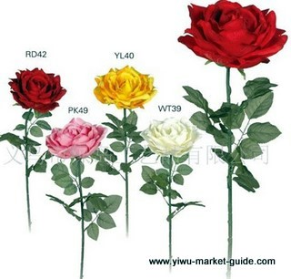 single roses wholesale in Yiwu market, China