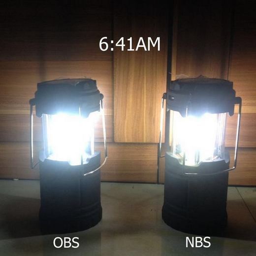 Solar camping lamp AB test 1