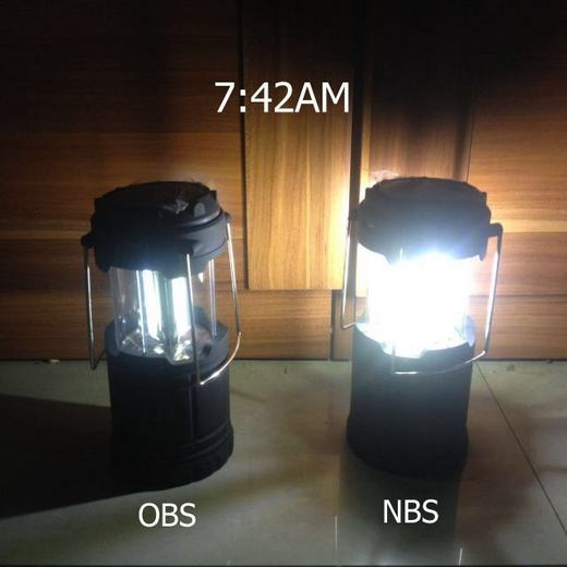 Solar camping lamp AB test 2