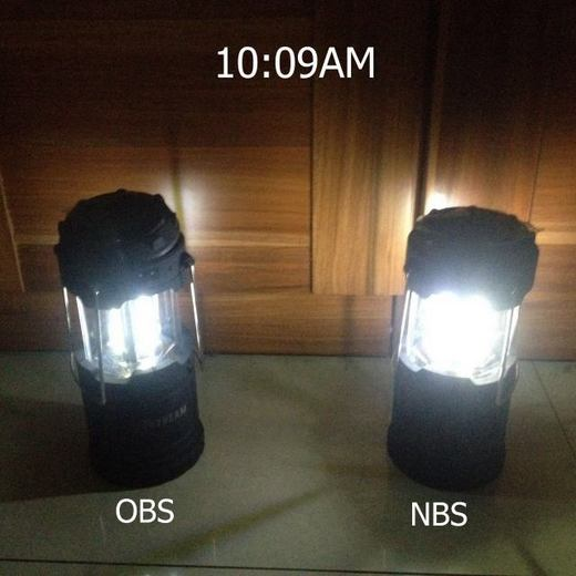 Solar camping lamp AB test 3