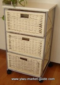 storage basket on wheels
