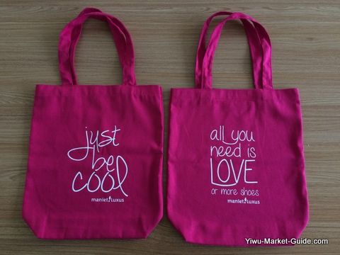tote shopping bag with logo printing, pink