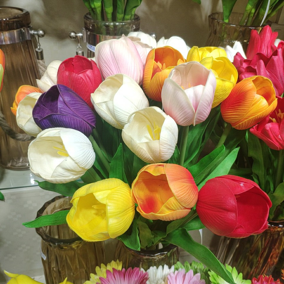tulips real touch (PU), Yiwu China 1