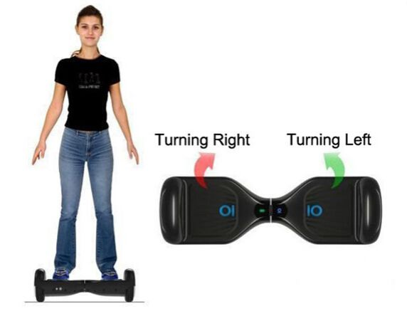 How to Ride a Smart Electric Self Balance Board? Turn Right, Turn Left.