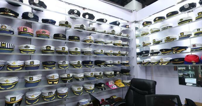 uniform hats, police, army, waiter waitress hats in yiwu market