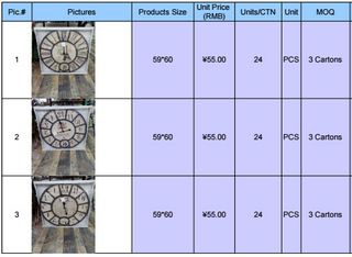 vintage wall clock price list