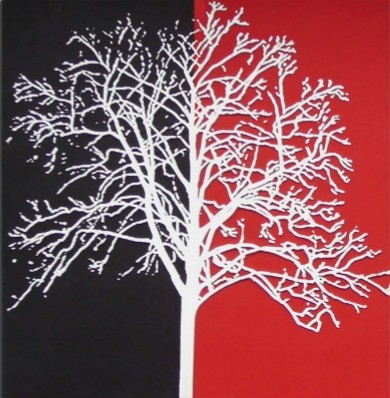 PU wall picture-tree