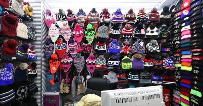A winer hats showrooms inside yiwu market