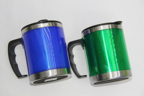 Cheap Stainless Steel Promotional Cups Bright Blue and Green #00106 3
