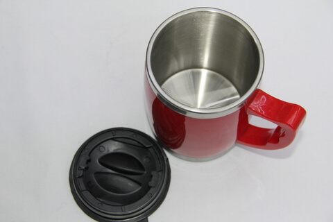 Cheap Stainless Steel Promotional Cups Bright Red