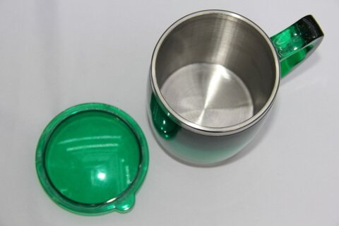 Cheap Stainless Steel Promotional Cups Neon Green #00108 1