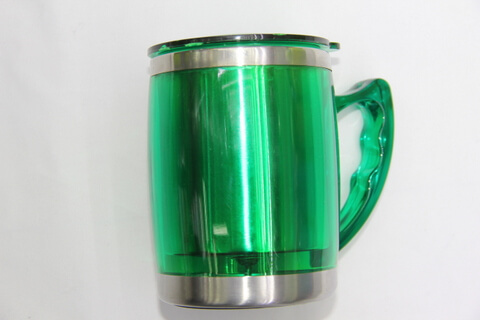 Cheap Stainless Steel Promotional Cups Neon Green