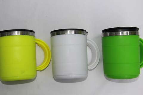 Cheap Stainless Steel Promotional Cup Silicon Rubber #00117
