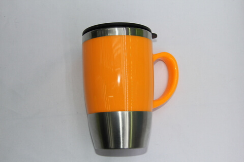 Cheap Promotional Cup Stainless Steel Inner Cup Plastic Outside Case #00118