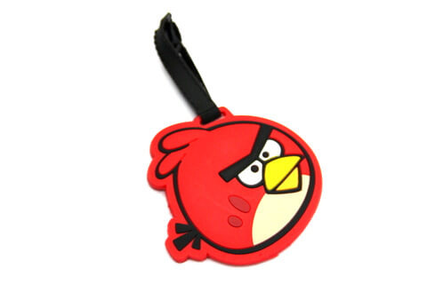 Silicone/Rubber luggage tags, cartoon, Angry birds, #02001-002