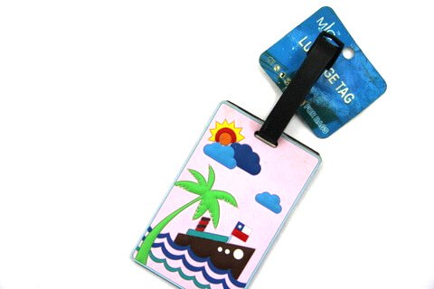Silicone/Rubber luggage tags for tourist souvenir & gifts, cruise, #02001-009