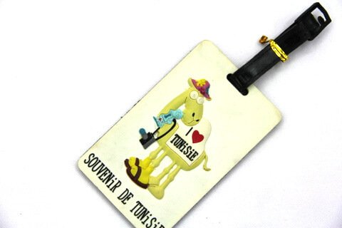 Silicone/Rubber luggage tags for tourist souvenir & gifts, Tunisia , #02001-017