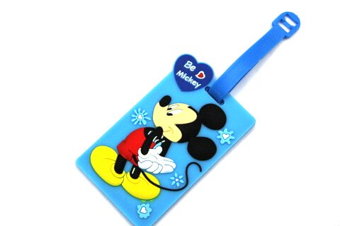 Silicone/Rubber luggage tags, cartoon,mikey, #02001-0020-1