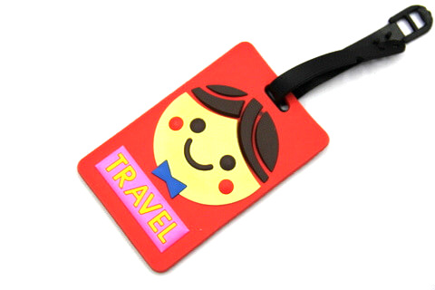 Silicone/Rubber luggage tags, cartoon,travel, #02001-0022-1