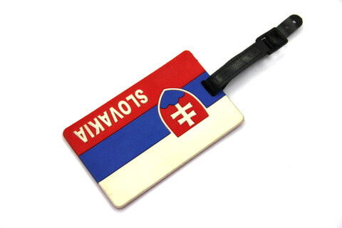Silicone/Rubber Luggage tags of National Flag, Slovakia, #02002-003