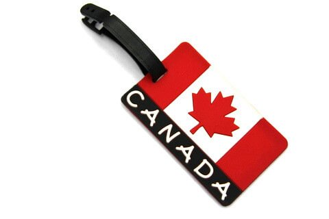 Silicone/Rubber Luggage tags of National Flag, Canada, #02002-004