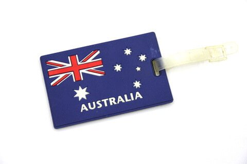 Silicone/Rubber Luggage tags of National Flag, Australia, #02002-009