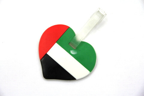 Silicone/Rubber Luggage tags of National Flag, UAE, #02002-014