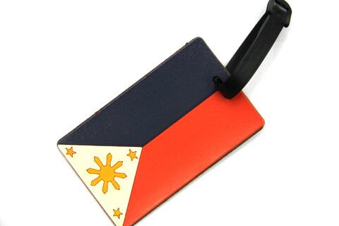 Silicone/Rubber Luggage tags of National Flag, Philippines , #02002-015