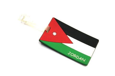 Silicone/Rubber Luggage tags of National Flag, Jordan, #02002-016