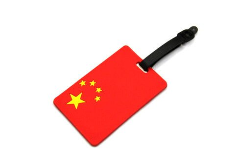 Silicone/Rubber Luggage tags of National Flag, China, #02002-018